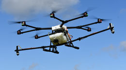 Micronair Micromiser atomisers for UAVs/ Drones - Micromiser on Drone Boom